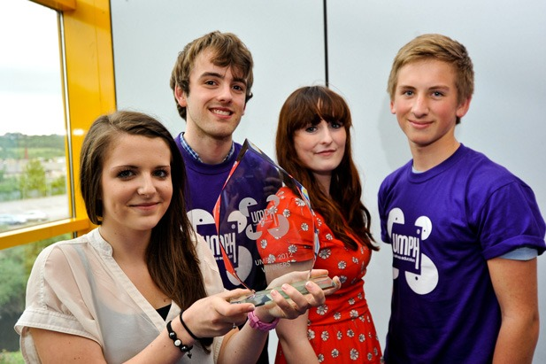 Umph! Overall winners l-r: Sophie Helsby, Andrew Hastings, Lauren Oliver-Walsh, Liam Saville