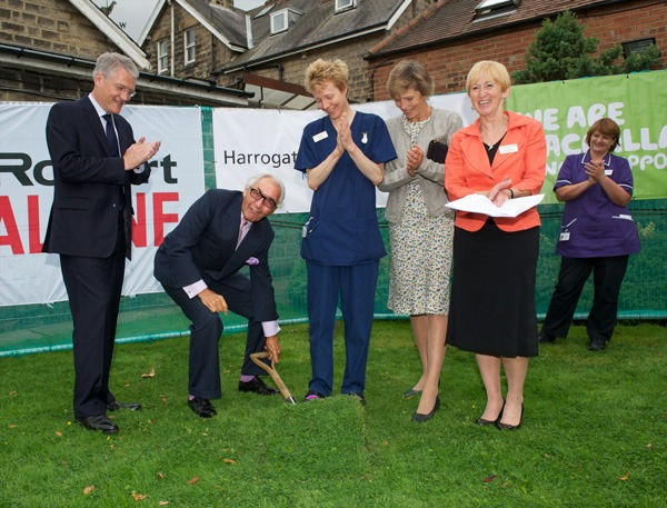 Andrew Jones, MP for Harrogate & Knaresborough, Sir Robert Ogden, Tricia Feber, Cancer Nurse, the Countess of Halifax, President of Macmillan Cancer Support and Sandra Dodson, Chairman of Harrogate and District NHS Foundation Trust