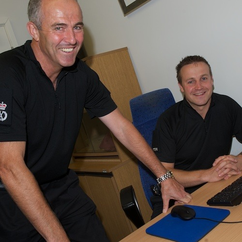 Chief Constable Tim Madgwick with PC Graham Frostick