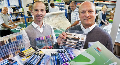 (Left to right) GraphicsDirect.co.uk directors Paul Hawkridge and Chris Booth at the firm's Tockwith warehouse