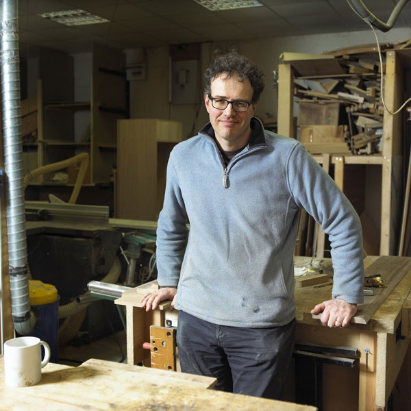 New emphasis for furniture firm – David Wilson in the workshop at Blubberhouses