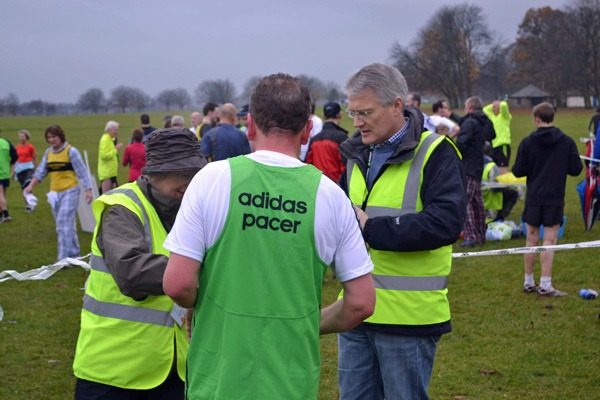 Andrew helping at the Harrogate ParkRun
