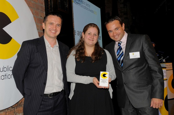 (L-R) Presenter Simon Wakeman, Acceleris Senior Account Executive Ellie Smith, Senior Account Director Simon Leonard