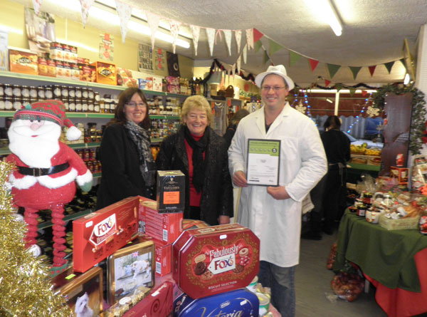Helen and Kevin Wilson of Park View Stores, Pateley Bridge who have a 5 (very good) food hygiene rating