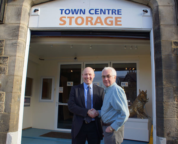 Supporting Small Businesses! Arthur Asquith, Lloyds TSB Commercial relationship manager (left) with Town Centre Storage's Terry Dixon