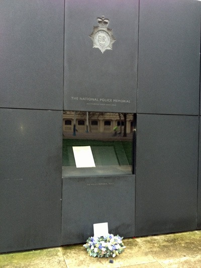 Tribute to PC Bramma at the National Police Memorial