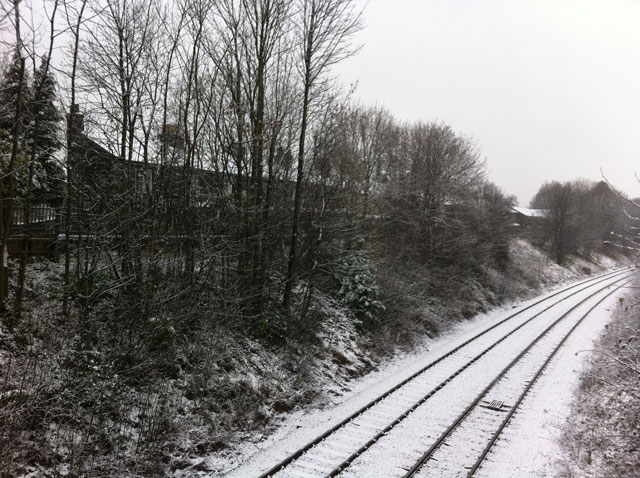 Railway near ASDA by Greg Buck