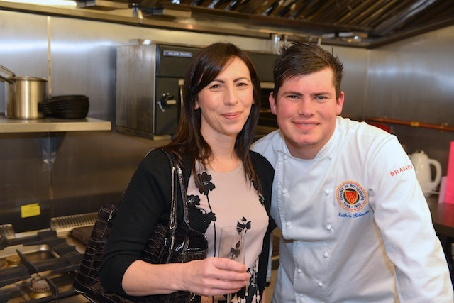 Proud Mum, Jo Thompson with Chef and son Matt Robinson