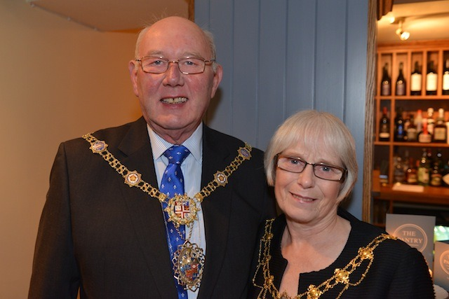 The Mayor and Lady mayoress, Robert and Linda Windass