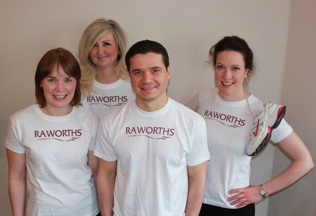 Raworths runners: Fionula Scanlan, Ruth Thompson, Ervin Shakaj and Kate Maybury