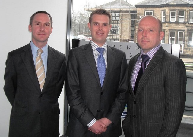 Clarendon House  Justin Garnett (Ogden Properties), Chris Hartnell (Carter Jonas) and Neil Richards-Smith (NCI)