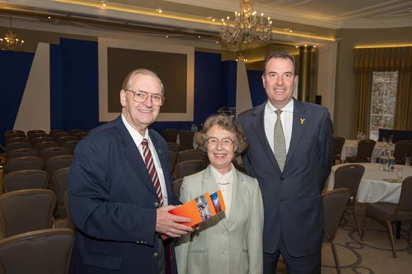 Bryan and Beryl Dunsby from Chamber of Commerce with Peter Banks, Managing Director at Rudding Park