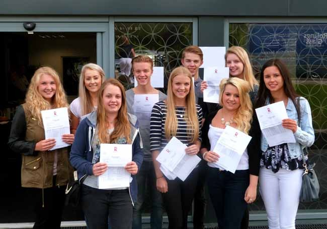 Smiles all round on A Level results day at Rossett School