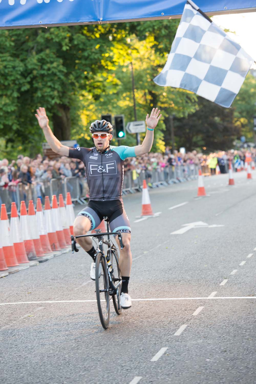 Chris Opie from One Pro Cycling clinched victory in the Elite Race