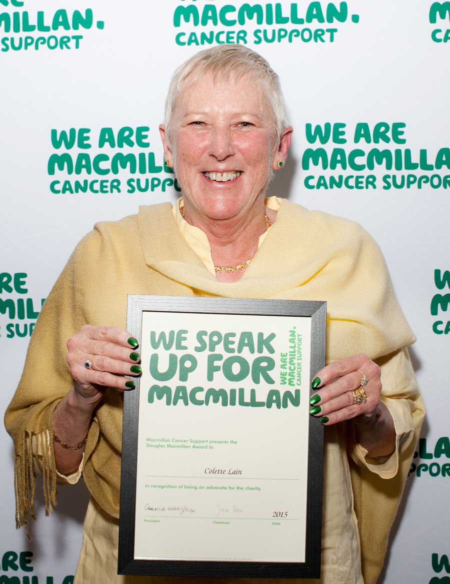 Colette Lain with The Douglas Macmillan Award
