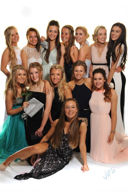Back row – Hollie Smith, Hannah Nash, Niamh Martin, Catrina Young, Katie Lee, Amy Brodie, Megan Boyes