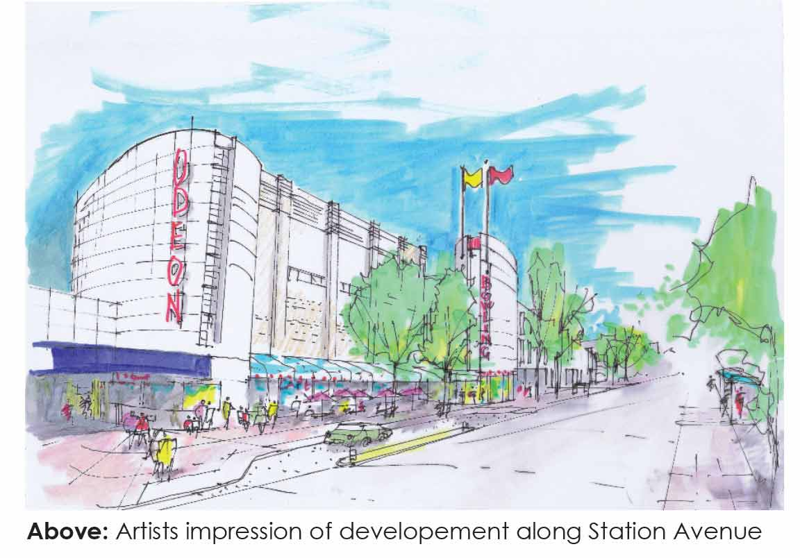 Artist's-impression-of-development-along-Station-Avenue