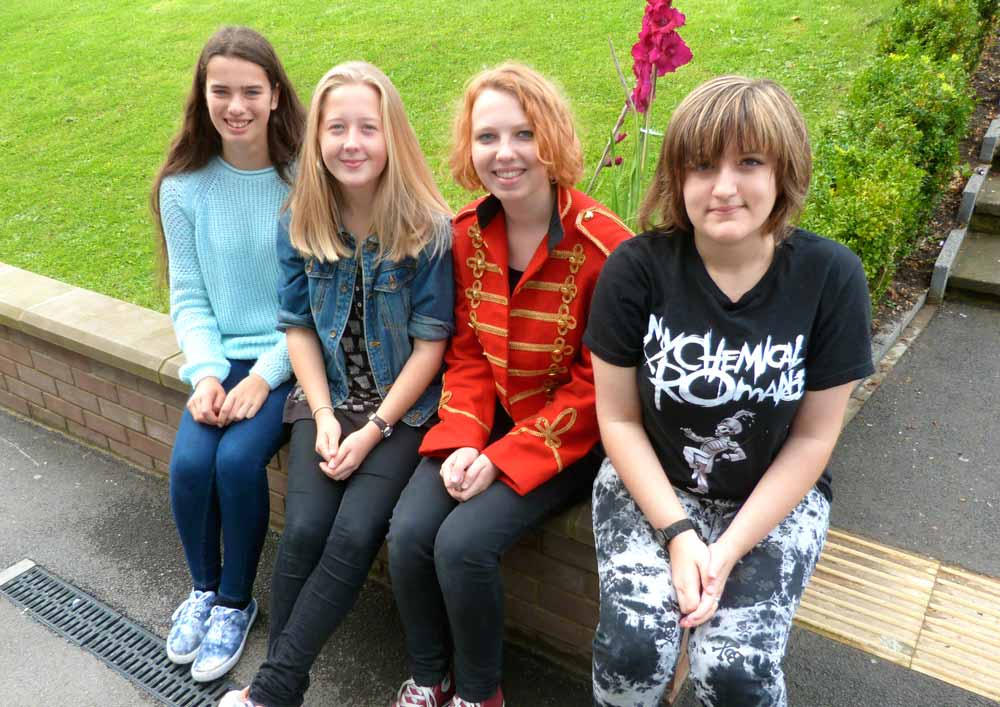 Millie Bell, Molly Turgoose, Leah Taylor and Athina Paraskos at Rossett School earned dozens of top grades between them