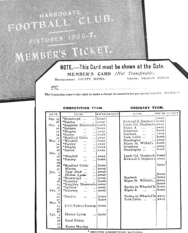 A members card from 1896