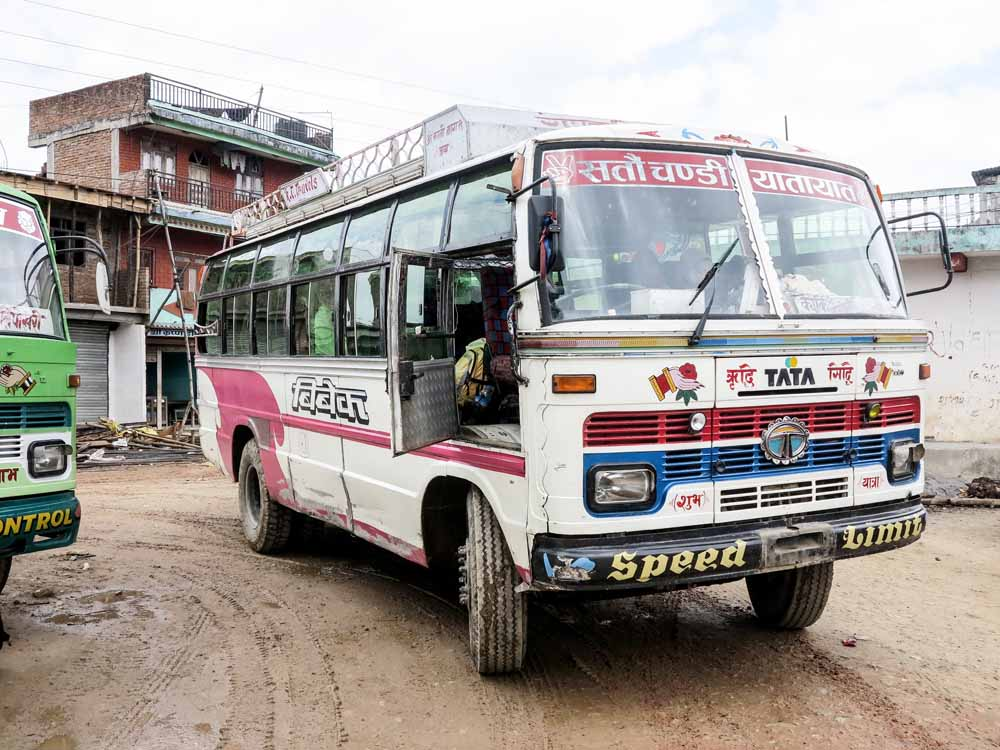 The Panchamul to Pokhara bus