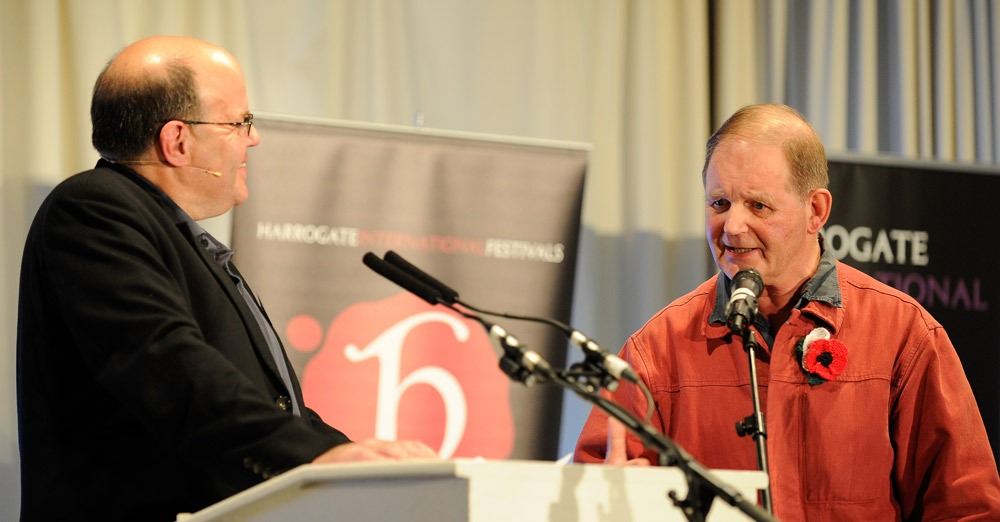 Michael Morpurgo with broadcaster, Mark Lawson