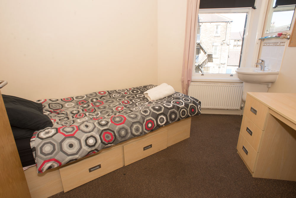 Typical bedroom in the Bower Street Hostel run by the Harrogate Homeless Project