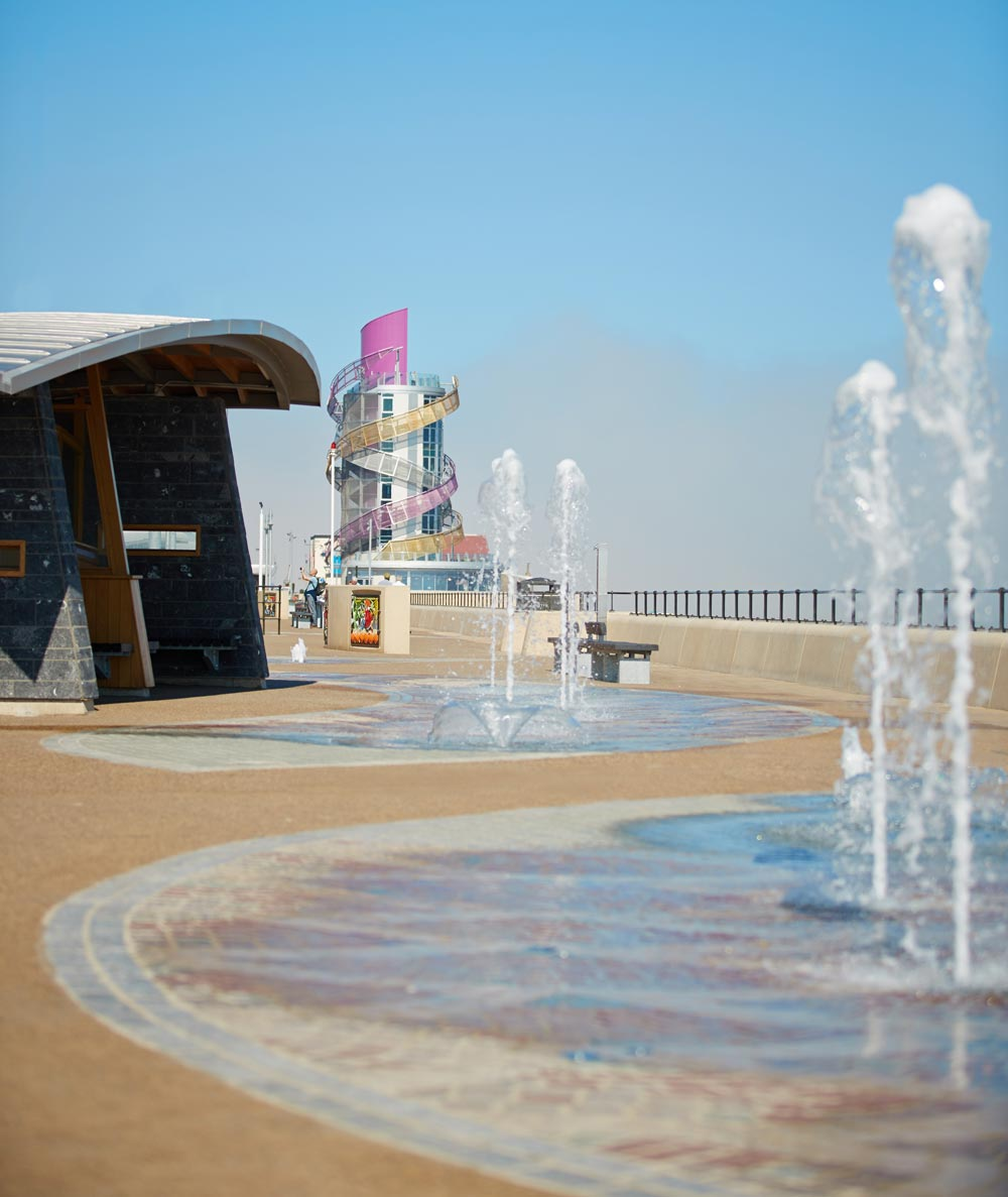 The Redcar Seafront Flood Alleviation and Landscaping Scheme, including the striking Redcar Beacon, has won a prestigious SPACES award for seven architecture and landscape architects Smeedon Foreman