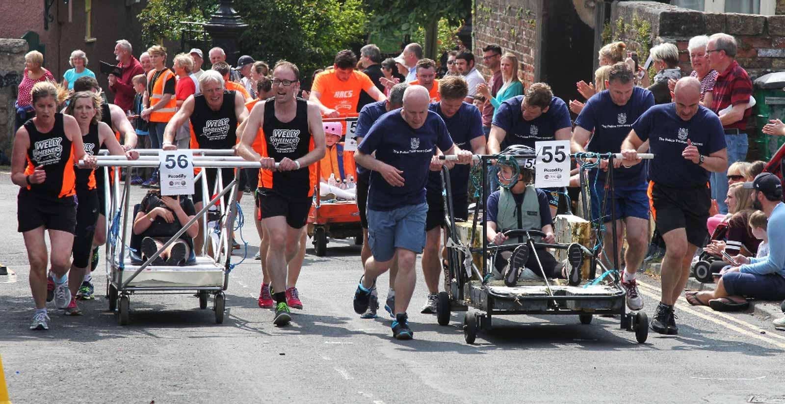 Team Line-up for the 2017 Great Knaresborough Bed Race