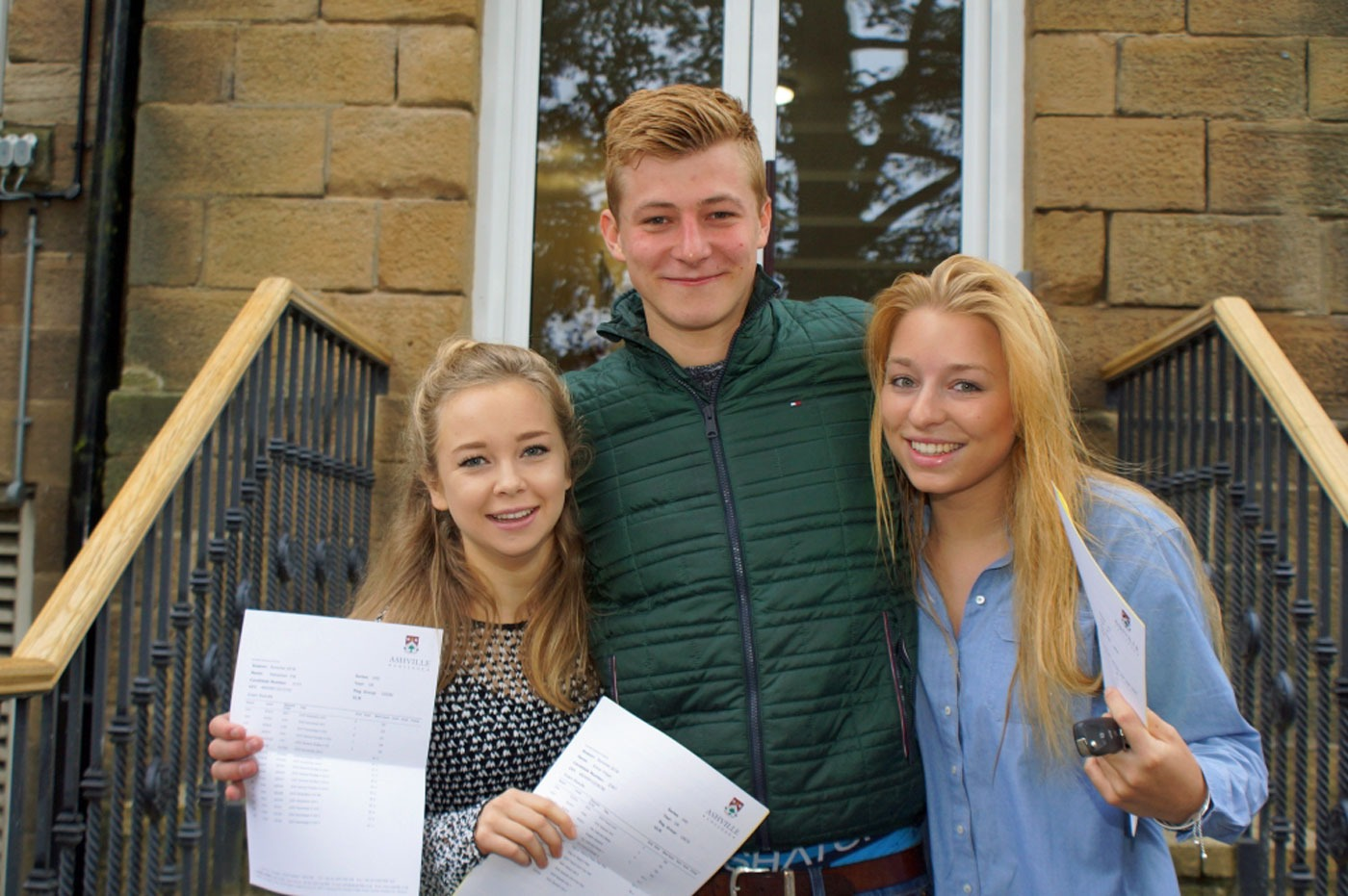 Will Smith and Lizzie Cormack who both achieved three A grades each