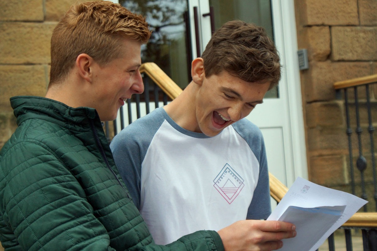 Seb Pitt and Ed Keen celebrate their results