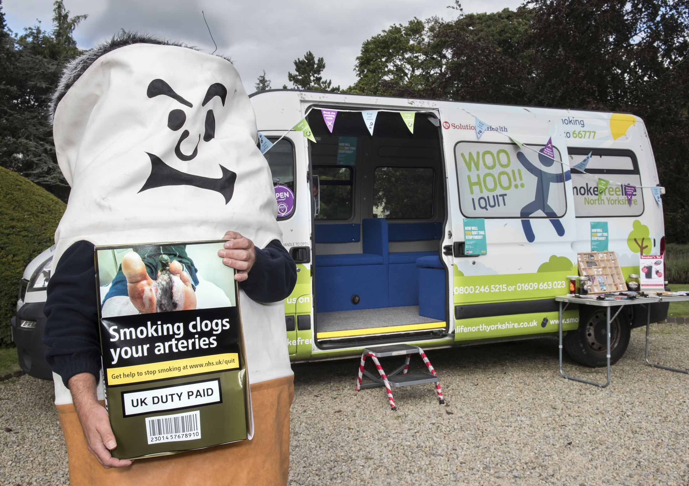Wellness on wheels - Smokefreelifenorthyorkshire has a mobile clinic which tours the county