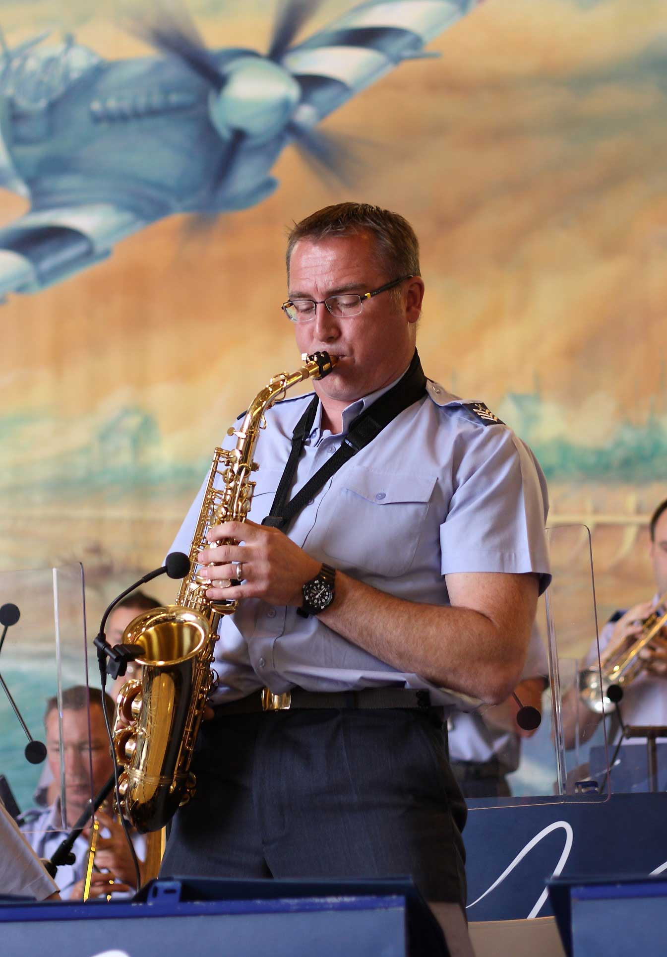 Saxophonist Chief Technician Tony Giles