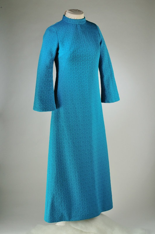 The 1970s Crimplene dress held in the Royal Pump Museum's collection originally worn by a Harrogate Choral Society member that inspired poet Rommi Smith