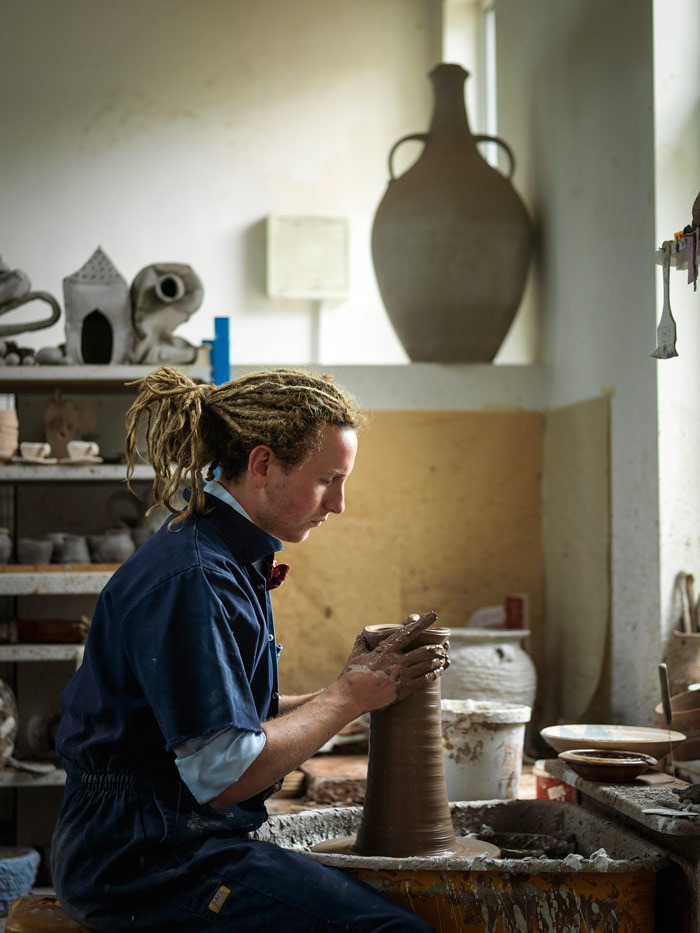Potter Matthew Wilcock, image courtesy of Ceramic Review