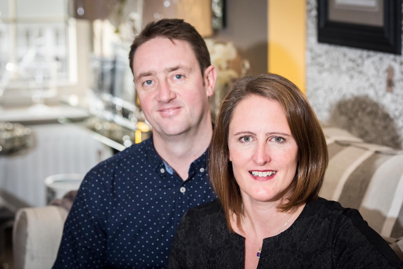 Glyn and Eleanor Goddard, owners of Furnish & Fettle