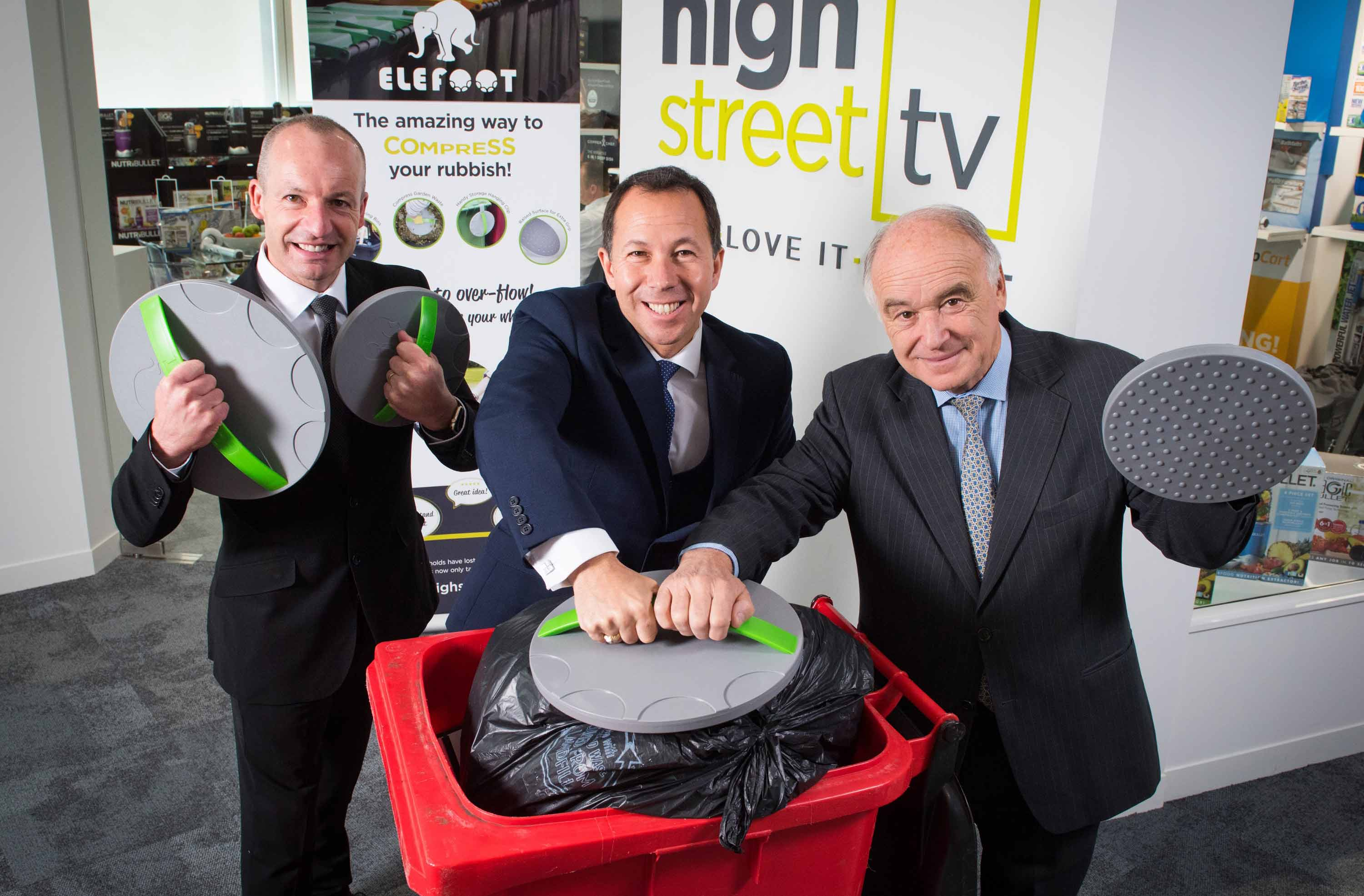 Jim Coleman and Andrew Malcher of High Street TV with Gordon Black and Elefoot