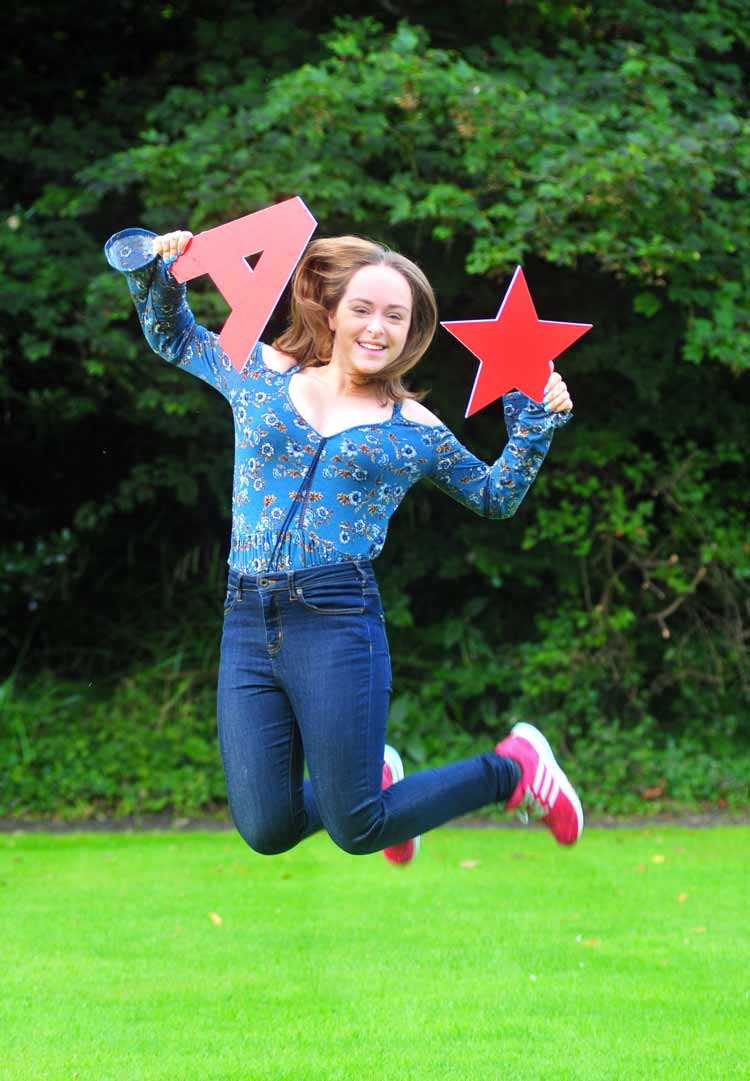 Harrogate Ladies College pupil, Sarah Planchak celebrates 8 A*-A GCSE grades