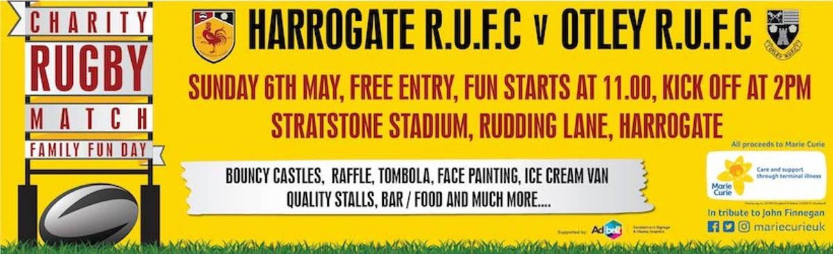 Charity Rugby Match & Family Fun Day Hosted by Harrogate Marie Curie Fundraising Group