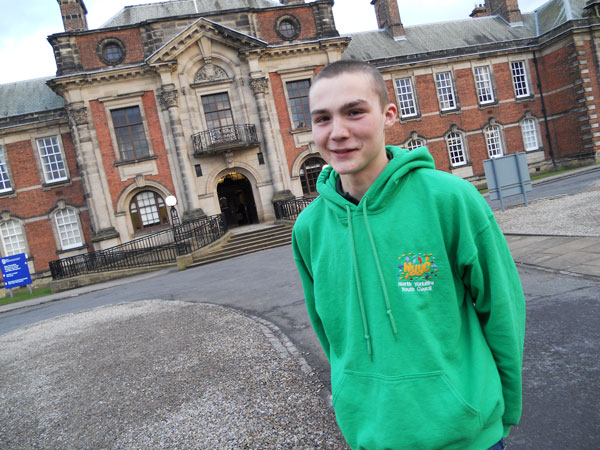Tom Gudgeon outside North Yorkshire County Council HQ