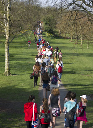 Sponsored walk raises money for new Gym at St John Fisher