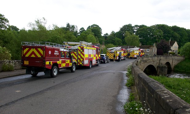 NYFRS in Killinghall near the River Nidd