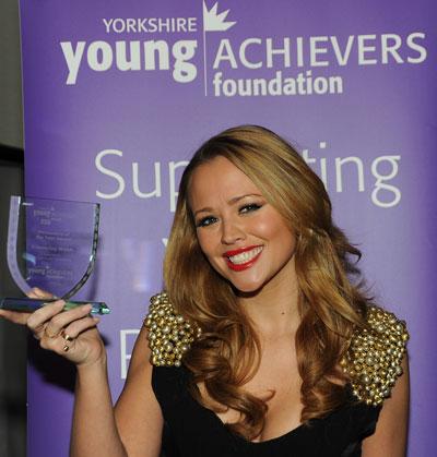 Kimberley Walsh with her 2010 Award