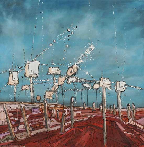 Second prize £100 goes to painter Daren Higham -Edgelands
