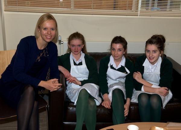 Team King James with Food Technology Teacher Amy Garbett