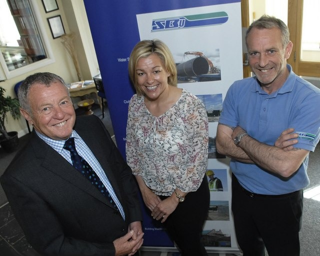 SAFETY MILESTONE: Pictured (L to R) at S&B Utilities headquarters in Knaresborough are managing director Keith Swales; finance director, Karen Cocker and senior contracts director, Darren Swales