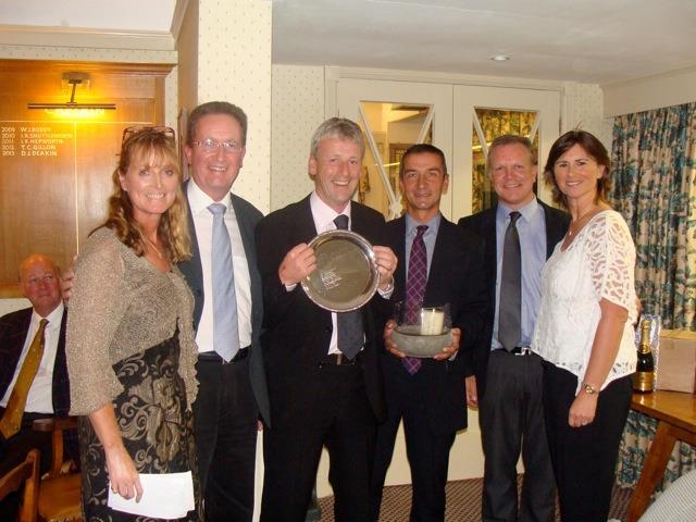 Acorn's Maria Dawson and Louise Hanen with winners John O'Kane, Mark Allan, John Crompton and Mike Crawshaw