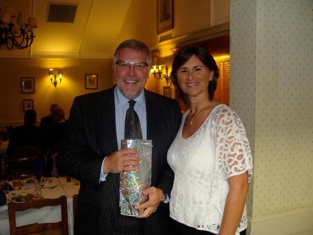 Nearest the Pin winner Julian Pitts with Louise Hanen