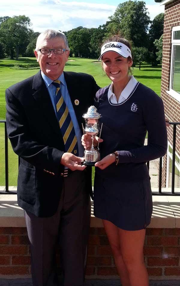 Alice Boothroyd, a graduate of Rudding Park's Golf Scholarship