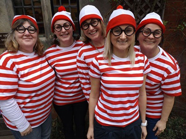 Infant staff as Where's Wally?