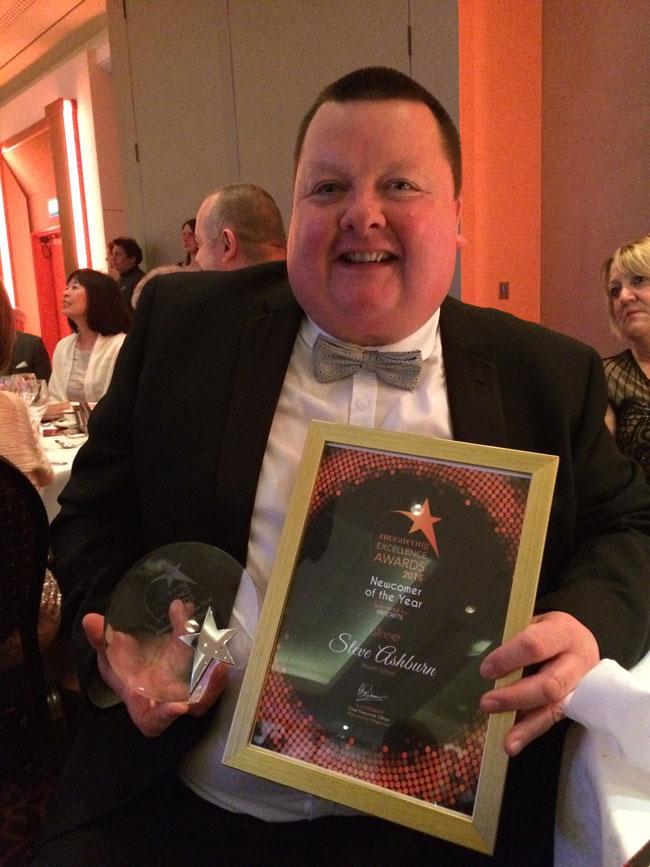 EDUcatering Newcomer of the Year Steve Ashburn, from Rossett School